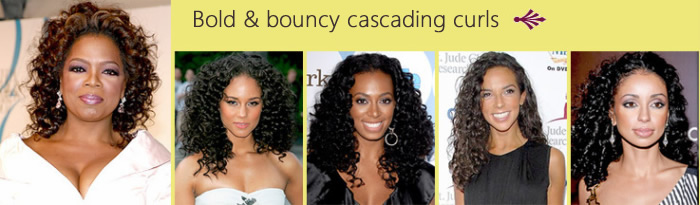 Bold & bouncy cascading curls