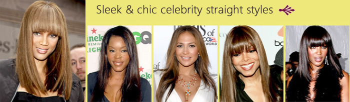 Sleek & chic celebrity straight styles